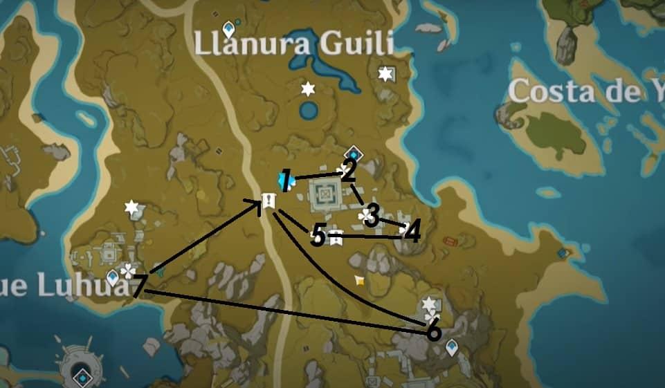 El tesoro de la Llanura Guili   Genshin Impact