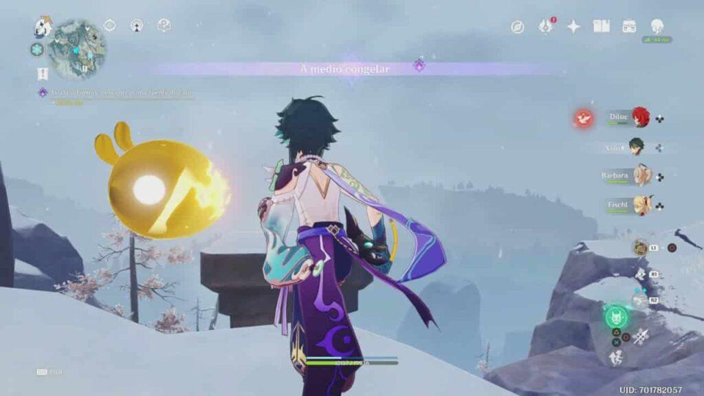 ¿Cómo completar A medio congelar en Genshin Impact?