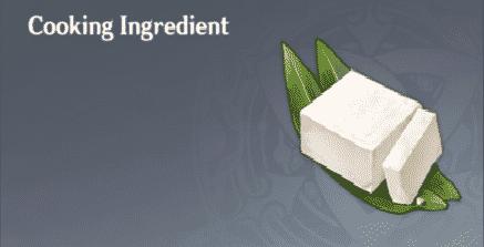 Tofu con huevas de cangrejo en Genshin Impact